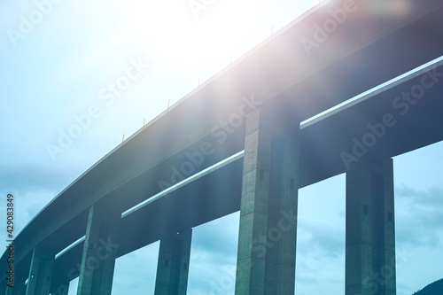 Section of highway under construction.High quality photo. - fototapety na wymiar