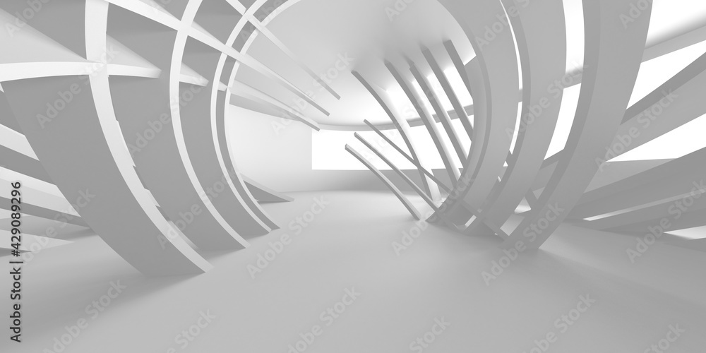 Fototapeta White Modern Background. Abstract Building Concept