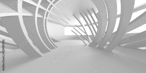 White Modern Background. Abstract Building Concept - fototapety na wymiar