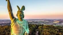 Hermann Monument In The Teutoburg Forest Near Detmold, Germany