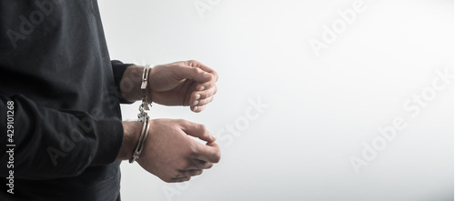 Photo Business man with handcuffs
