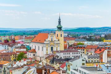 Aerial view of Kromeriz, Czech republic.