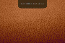 Vector Brown Leather Texture. Realistic Animal Skin Background. Luxury Soft Natural Leather Wallpaper. Reptile, Crocodile Or Snake Skin Texture. Vector Illustration EPS10