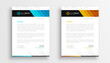 stylish business letterhead templates set of two