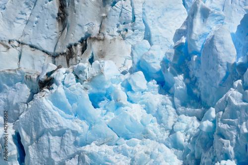 Carta da parati close up perito moreno glacier arid region country