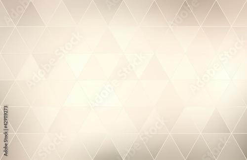 Obraz na płótnie Light beige triangles mosaic tiles pattern closeup