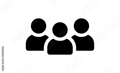 Group and team icon isolated. Vector illustration. - fototapety na wymiar