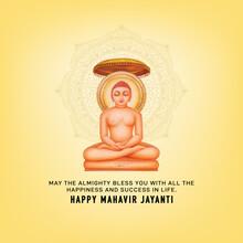 Mahavir Jayanti Celebration Background The Birth Of Mahaveer.