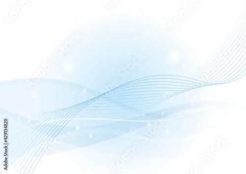 Obraz na plátně ウェーブ,波,背景,曲線,海,風,ブルー,夏