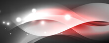 Shiny Glowing Neon Wave, Light Lines Abstract Background. Magic Energy And Motion Concept. Vector Wallpaper Template