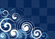 渦潮のような波紋の模様