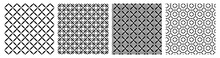 Geometry Rhombus Seamless Patternl. Black White Background. Vector Illustration For Cloth, Wrapping Paper, Cover, Fabric