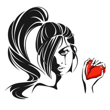 Girl Crying Over A Broken Heart