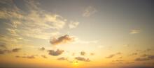 Sky At Sunset Panorama Nature Background