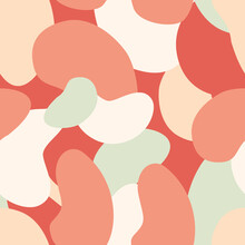 Seamless Camouflage Pattern Of Pastel Colors