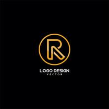Gold Monogram R Symbol
