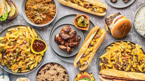 Canvastavla Food Photography BBQ Chicken, Baguette, Jerk Chicken, Philly Cheese Steak, Herbs