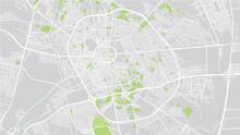 Urban Vector City Map Of Medina, Saudi Arabia, Middle East