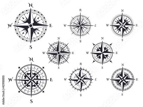 Canvas Print Retro compass