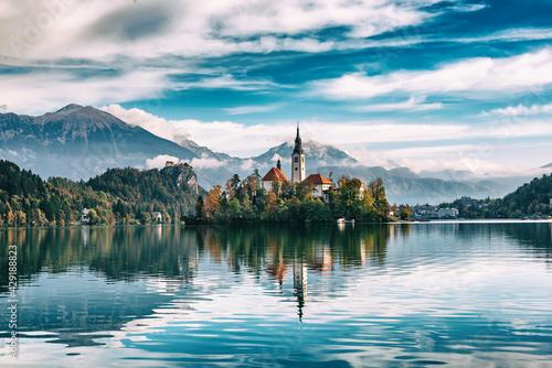 Lake Bled, Slovenia - fototapety na wymiar