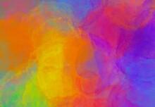 Sfondo Banner Astratto Acquerello Arcobaleno