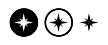 Compass Vector Icons Set. Compass Icon Vector