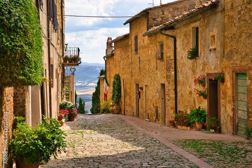 Fotografie, Obraz View of Pienza, Siena, Tuscany, Italy