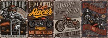 Motorcycle Vintage Colorful Posters