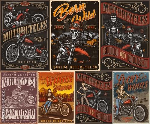Foto Custom motorcycle vintage posters