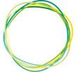 Logo aus grünen Ringen - Natur- und Umweltschutz, Ressourcen nachhaltig nutzen und das Klima schützen