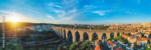 Obraz na plátně Historic aqueduct in Lisbon city