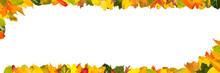 Buntes Herbst Laub Als Rahmen Für Header Banner