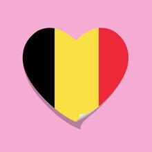 I Love Belgium Flag Heart