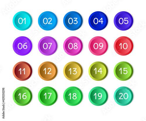 Valokuva Bullet numbers