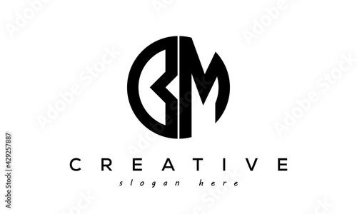 Letter BM creative circle logo design vector