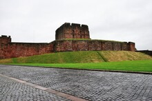 900 Years Old Carlisle Castle In The English County Of Cumbria, Near The Ruins Of Hadrian's Wall, England, United Kingdom