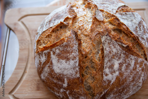 Fotografie, Obraz home-made bread wheat rye sourdough oven