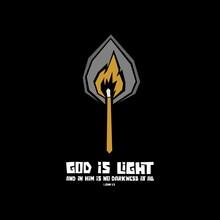 Biblical Illustration. Christian Art. God Is Light.