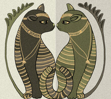 Two Egyptian Cats