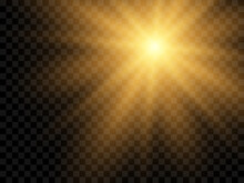 Sunlight On A Transparent Background