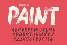 Stylish Brush Painted An Uppercase Vector Letters, Alphabet, Typeface.