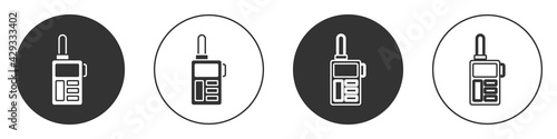 Black Walkie talkie icon isolated on white background Fototapet
