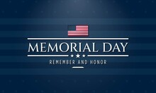 Memorial Day Background Design. Vector Illustration.