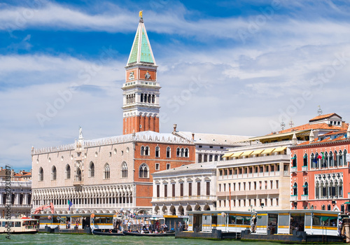 Tela St Marks Campanile and the Doge's Palace at St Mark's Square in