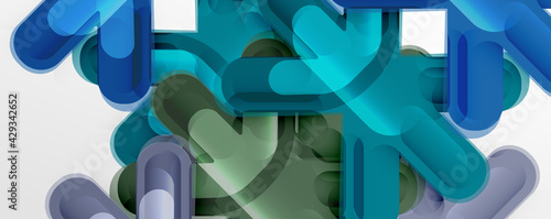 Fényképezés Abstract glossy crosses background for business or technology presentations, int