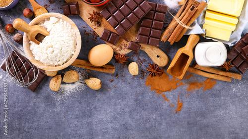 Obraz na plátně baking food background