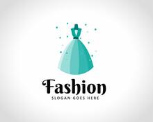 Abstract Women Dress Art Logo Design Illustration