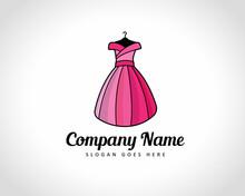 Women Dress Fashion Shop Logo Design Illustration
