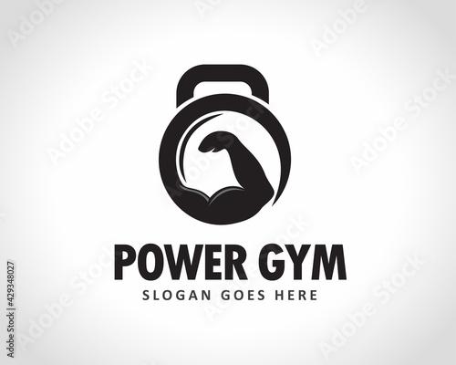 Stampa su Tela power hand fitness gym logo icon symbol design illustration