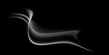 Abstract Fractal Black White Background With Wave For Design